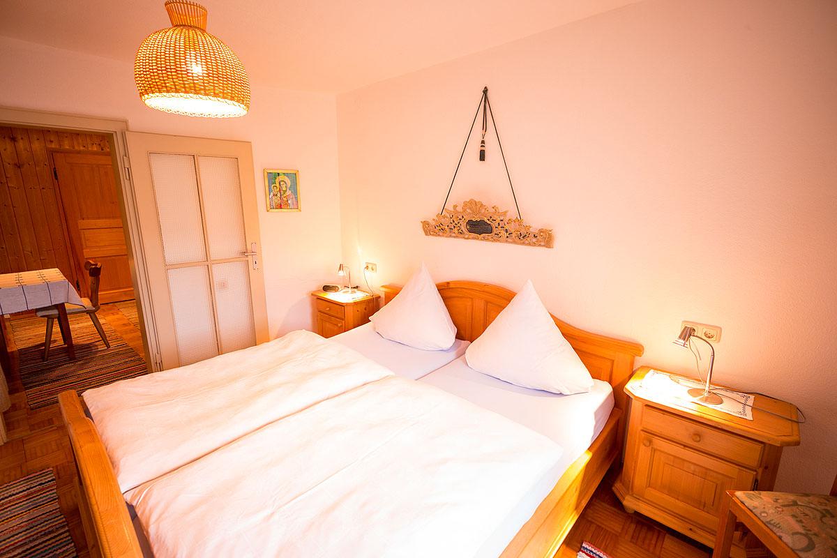 Schlafzimmer Ferienwohnung Hochries